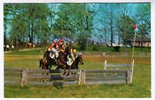 HORSE RACING - Block House Steeplechases - North Carolina - 1973 used postcard