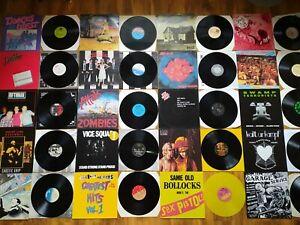 COLLECTION PUNK VICE SQUAD PISTOLS REJECTS STIFF VINYL LP RECORDS ROCK JOB LOT