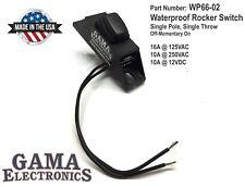 Waterproof Mini Rocker Switch, 10A Off-Momentary On P/N WP66-02