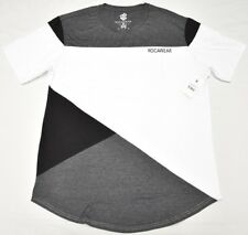 $48 NWT Mens Rocawear T-Shirt Colorblock Scallop Stretch Tee Urban Size XL N648