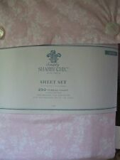 Rachel Ashwell SIMPLY SHABBY CHIC Rose Slipper Pink Floral Sheet Set- Queen