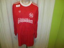 """Hannover 96 Adidas Langarm Trikot 1985/86 """"feldschlößchen"""" + Handsigniert Gr.L"""
