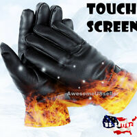 Men Women Winter Gloves Touch Screen Snow Windproof Waterproof Leather Thick USA