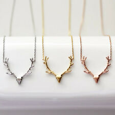 Fashion Reindeer Deer Antler Pendant Necklace Chain Best Gift Jewelry