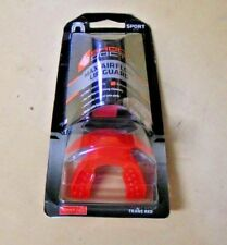Shock Doctor Max Airflow Mouth Guard- Adult 11Yrs+ -Trans Red W/ Tether #3352A