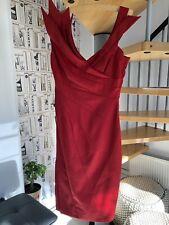 Karen Millen-impresionante cóctel Vestido Rojo Talla 10 perfecto para bodas, Proms