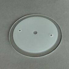Replacement Glass 6518 Wofi Twin Table Desk Lamp Transparent Satin Flat Round