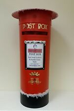 ROYAL MAIL PILLAR POST BOX, Red, Wedding, School,Letters to Santa, grotto,To BUY