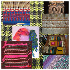 Wooden Multi-Craft knitting Weaving Loom DIY kit with Yarns Warp Weft Adjusting