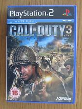 PLAYSTATION 2 CALL OF DUTY 3 OFFICIAL LICENSED PRODUCT INC NET PLAY AGE15 ACTION