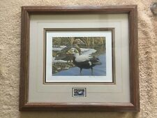 1987 Alaska Duck Stamp and Print by Carl Branson, Framed LE 4,535 of 4,675