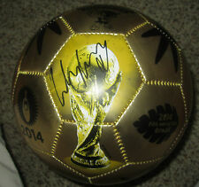 Wayne Rooney Signed Gold 2014 World Cup Brazil Soccer Ball Size 5 with proof