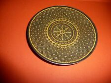 Exquisite Small Metal Asian Style Plate Tray Starburst Design