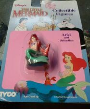 Vintage Disney's the Little Mermaid Ariel and Sebastian from TYCO still on card