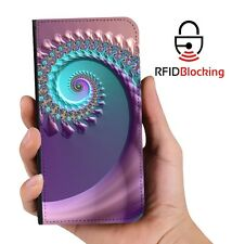 Swirl Fractal Luxury Flip Cover Wallet Card  PU Leather Phone Case Stand iPhone
