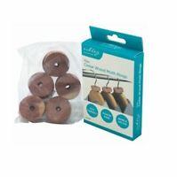 10Pc 100% Natural Cedar Wood Rings Wardrobe Anti Moth Mildew Repellent Deterrent