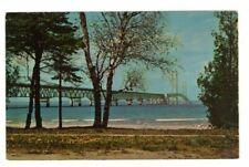 Circa 1960 Mackinac Bridge Mackinac Island MI Postcard