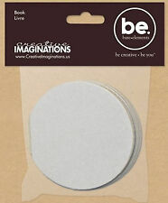"Bare Elements 4"" CIRCLE CHIPBOARD MINI-BOOK scrapbooking"