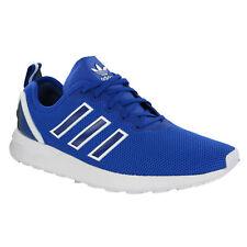 Hombre Adidas Zx Flujo Adv Zapatillas para Correr SPORTS Malla Azul Tacón Jaula