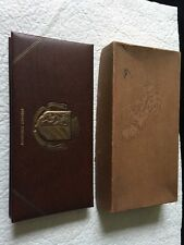 Vintage 1960's Telephone & Address Book - Brown Leatherette Cover - Orig Box