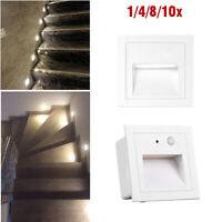 LED Treppenlicht Wand Einbauleuchte Treppen Spot Stufen mit Bewegungsmelder Weiß