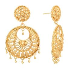 Indian Gold Plated Traditional  Bollywood Style Fashion Chand Bali Earring Set
