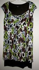 EUC AGB Casual Career Dress  Size 12   MULTI-COLOR RINGED PRINT