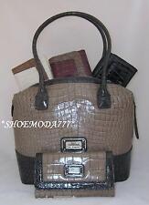 GUESS Carla Box Satchel Bag Purse Handbag Tote Wallet Checkbook Set Authentic