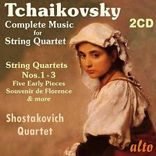 2 CD BOX TCHAIKOVSKY COMPLETE MUSIC STRING QUARTET FIVE EARLY PIECES ADAGIO ETC