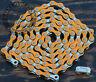 "Orange & Silver 2Tone Fixie Bicycle Chain 1/2x1/8"" 112L Schwinn Cruiser Bike BMX"