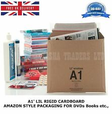 50 x A1 LIL DVD RIGID CARDBOARD AMAZON STYLE MAILERS ENVELOPES D1 JL1 SIZE HQ