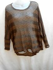 Polyester Tunic Striped Jumpers & Cardigans for Women