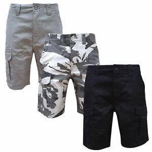 """Mens Wrangler Cargo Combat Stretch Relaxed Fit Camo Shorts Cotton Work 30-48"""""""