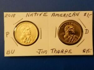 2018 P~D~ SACAGAWEA DOLLAR ~PROOF~ NATIVE AMERICAN  COIN SET LOT P~D IN STOCK