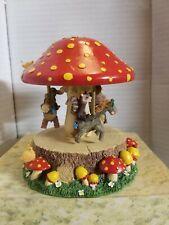 Charming Tails Fitz Floyd mouse music box Mushroom Carousel 80/6 Mib