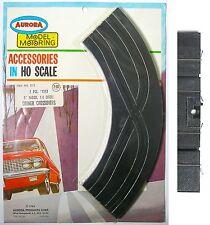 "2pc 1963 Aurora HO Slot Car 1/4 9"" CORNER CRISS CROSS CROSSOVERS CURVE #1213 MOC"