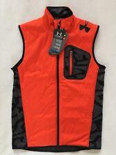 UNDER ARMOUR Men's Combine Training Vest ColdGear Orange Black NWT $89.99 SMALL