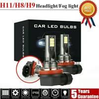 2Pcs H11 3030-12LED Headlight 110W 20000LM FOG Light Bulb 6000K Driving DRL Lamp