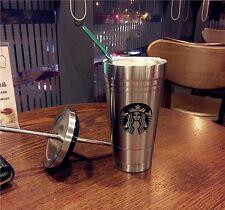 Large 500ML New Starbucks Coffee Water Stainless Steel Bottle Mug Cup Tumbler