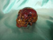 Crystal Skull red yellow jasper