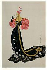 "VINTAGE Erte Art Deco Print"" 1945 Costume per Marguerite"""