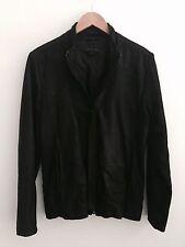 Orthodox Mens Leather Jacket Black Size Small Rick Owens Style