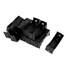 Plastic Single 26650 Battery Holder Case Storage Box 10Pcs Black E7I3