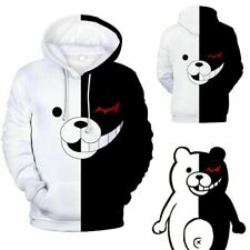 Danganronpa Monokuma Black & White Bear Unisex Jacket Sweater Sweatshirt Hoodie
