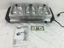 Nostalgia Electrics BCD332 3-Station Mini Buffet Server with Warming Tray