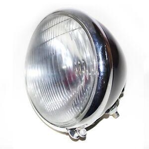 "Retro Headlight Headlamp 7"" Bottom Mount Fits Harley Cafe Racer Bobber S2u"
