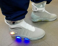 Mag Back to the Future Light Up Trainers Shoes, All Sizes NEW