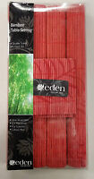 Eden Bamboo Table Settings Red Colour 4 x Placemats & 4 x Coasters