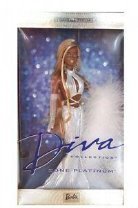Barbie Diva Collection Gone Platinum Doll 2002 African / American