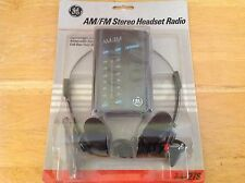 General Electric AM/FM Stereo Headset Radio - 7-1627S - Brand New & Sealed